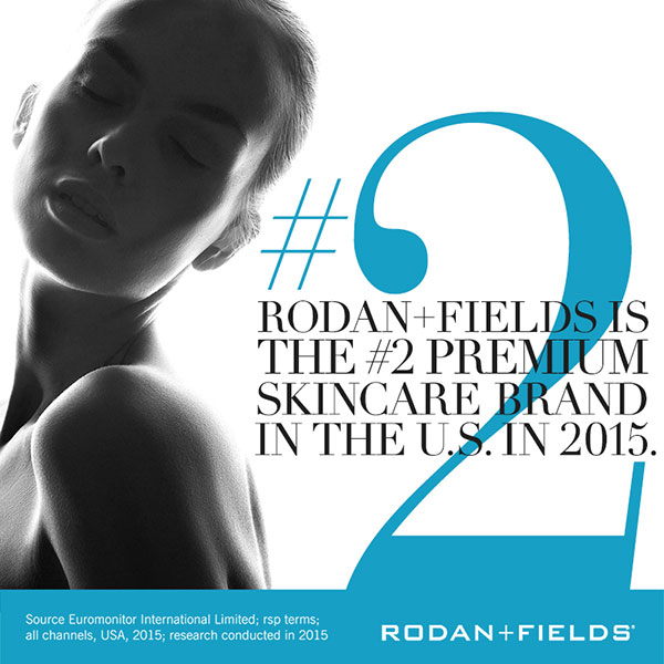rodan and fields is the number two premium skincare brand in the us in 2015